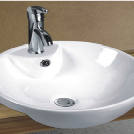 Semi Recessed Basin B-2263C, By Bestlink