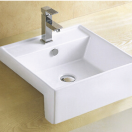 Semi Recessed Basin B-8037J, By Bestlink