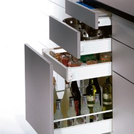 Integra Top Single Wall Steel Drawer System By GRASS