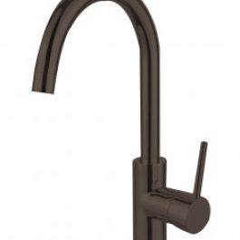Nirvana Gooseneck Kitchen Mixer Black, By Bestlink