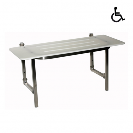 Folding Disabled Acrylic Shower Seat, By ASI JD MacDonald