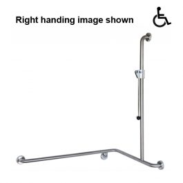 Shower Grab Rail 1000x760x1100MM - Clean Seal System with Easy Slide Slider + GRSS-ESH-Handle, By ASI JD MacDonald